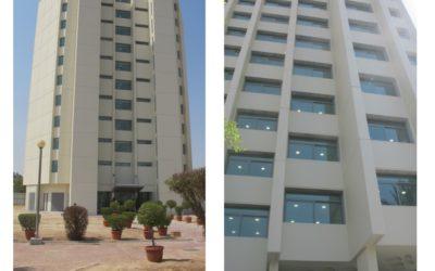 اعمال التدعيم الإنشائى و تجديد و صيانة مبنى سكن الطلاب بجامعة الشويخ